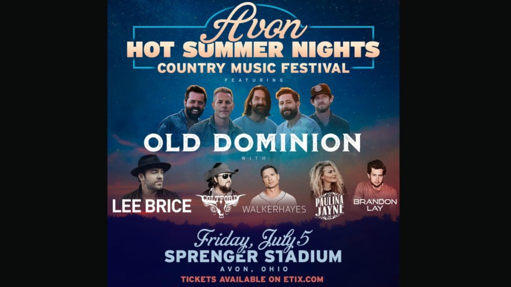 Avon to host Hot Summer Nights Country Music Festival